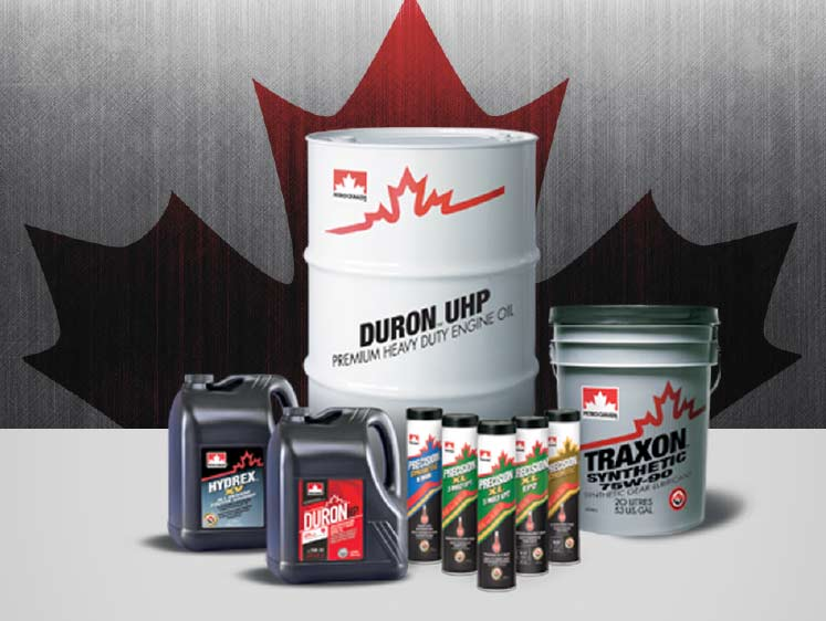 Group picture of Petro-Canada Lubricants products
